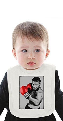 Mike Tyson Boxer Red Gloves Organic Baby Bib With Ties Medium -