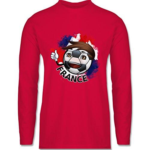 EM 2016 - Frankreich - France Fußballjunge - Longsleeve / langärmeliges T-Shirt für Herren Rot