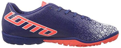 Lotto Sport Lzg Viii 700 Tf, Scarpe da Calcio Uomo Blu (BLU TWI/RED FL)