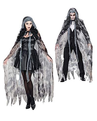 Ghostly Spirit Kostüm - Horror-Shop Ghostly Spirit Umhang als Kostümzubehör - Unisex