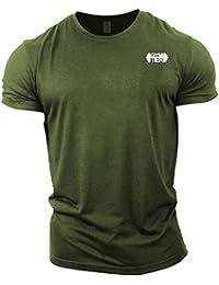81359d2686377 GYMTIER Mens Bodybuilding T-Shirt - Plain Badge - Gym Training Top