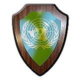 Wapenschild/wandschild/wapen - UNO United Nations Organisatie Verenigde Staten vrede vredesmissie wereldvredesmissies Volkerenrecht logo #6983