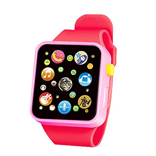 guoYL26sx Toys Kids Electronic Touch Screen Wrist Watch Toy with Music Sound Early Education - Red
