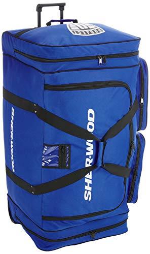 SherWood Eishockeytasche Project 9 Für Eishockeyausrüstung, Blau, 116 Liter