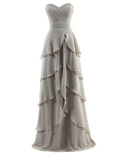 Dresstells, Robe de soirée de mariage/cérémonie/demoiselle d'honneur bustier en cœur robe à volants Blush