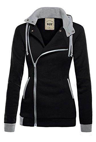 DJT Women Zipper Hoody Winter Warm Hoodie Sweatshirt Outerwear Jacket Coat