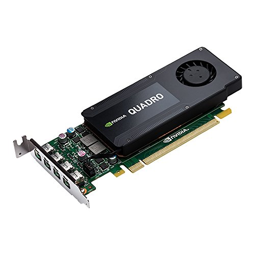 PNY NVIDIA QUADRO K1200 professionelle Grafikkarte 4 GB GDDR5 PCI-Express Low Profile 4K 4 x DP (VCQK1200DP-PB)