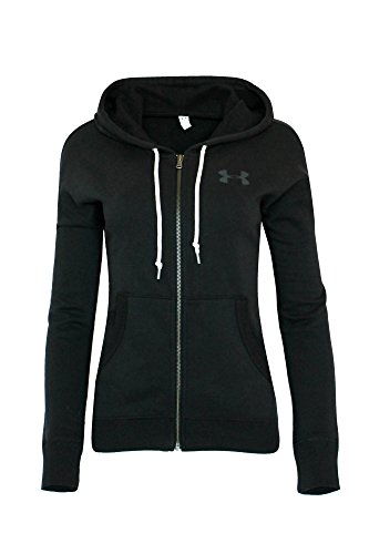 Under Armour Damen UA Athletic Full Zip Hoodie Shirt schwarz, damen, schwarz (Frauen Zip Armour Für Under Up)