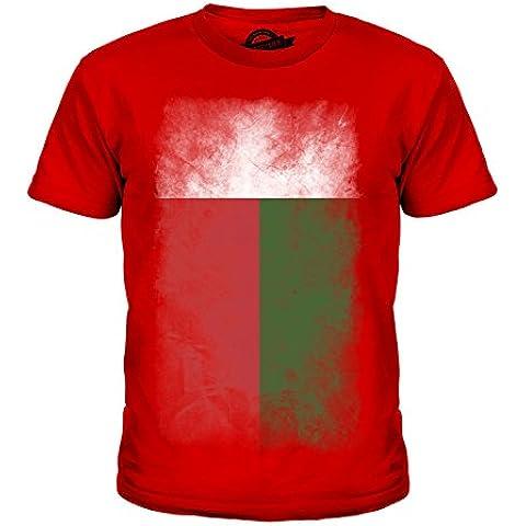 CandyMix Madagascar Sbiadito Bandiera Unisex Bambino Ragazzi/Ragazze T-Shirt