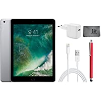 Apple iPad Wifi Tablet PC MP2F2FD/A 24,6 cm ( 9,7 Zoll ) - 32GB , Space Grey + Highend Zubehor Bundle ** Neueste model 2017 **