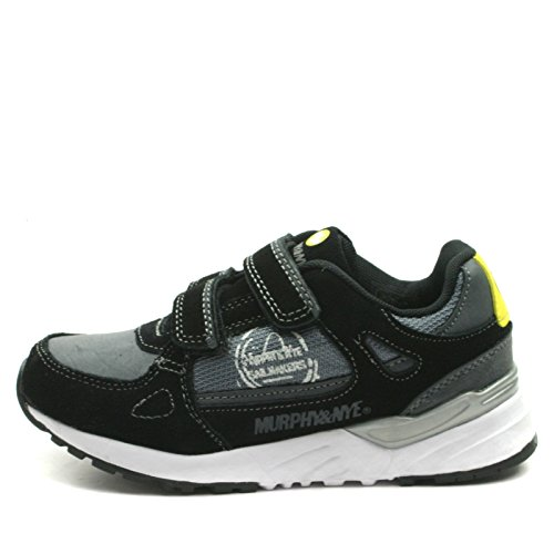 MN912 Murphy&Nye Velcro Straps Shoe Sporty for Boys >      > sangles velcro Chaussures sport pour garçons Black (noir)