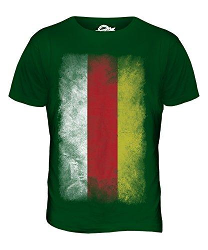 CandyMix Nordossetien-Alanien Verblichen Flagge Herren T Shirt Flaschengrün