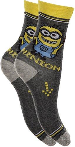 4 Paar Damen-Socken mit Minions-Motiv
