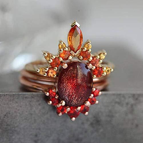 Ancjiape Meritorious Fashion Women Rings Schmuck Neue Exquisite Weiß/Rose Gold Color Fingerring für Frauen(None 7 Rose Gold 7) (Rose Gold-emerald-cut-ringe)