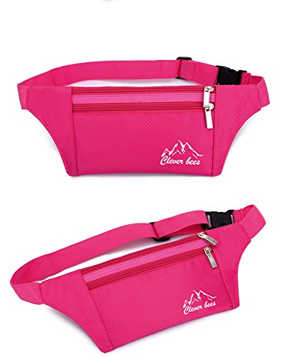 dushow Outdoor Fitness Trainings Reisen Multi-Funktionelle Sport Running Taille Gürteltasche Tasche rose