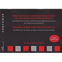 Procedimiento Administrativo Común de las Administraciones Públicas. Régimen jurídico del sector público. Esquemas.
