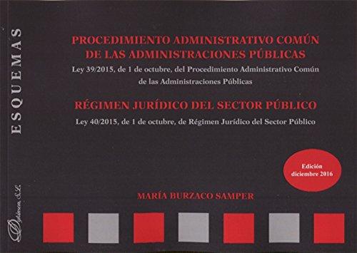 Procedimiento Administrativo Común de las Administraciones Públicas. Régimen jurídico del sector público. Esquemas. por María Burzaco Samper
