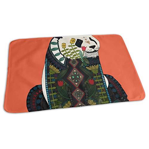 Panda Orange Swatch Baby Portable Reusable Changing Pad Mat 19.7x 27.5 inch