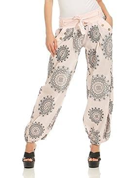ZARMEXX Mujeres Harem Pants Bloomers Harem Pants Yoga Pantalones Harem Pantalones de verano con cinturón de tela...