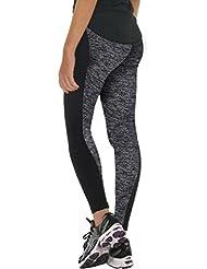 Pantalone deporte mujer Sannysis Pantalones elásticos Leggings elastic Jeans para Mujer (Gris, S)