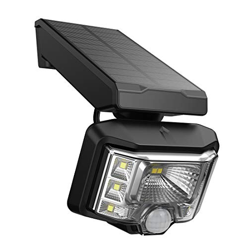 Solarstrahler, Veofoo Einstellbares Solarlicht mit Bewegungssensor 8LED Wasserdichte Sicherheitsleuchte für Garten, Hof, Auffahrt, Zaun (1piece) -