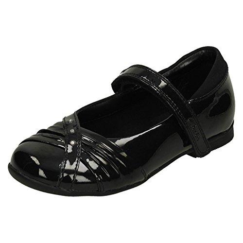 Clarks Dolly schüchtern Mädchenschule Schuh Kleinkind Black Patent 11 H