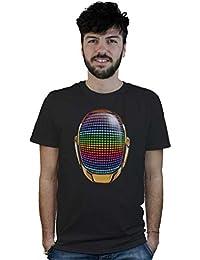 Camiseta Dj Casco de Daft Punk, t-shirt negra, música house, techno