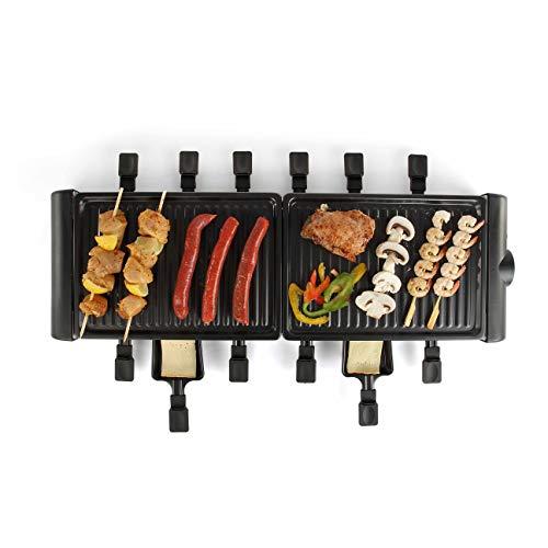 LIVOO DOC185 Raclette für 12 Personen, schwarz