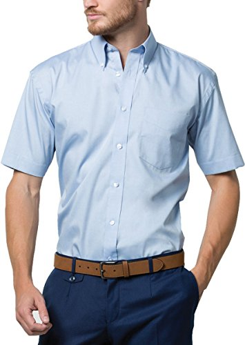 New Kustom Kit da stiro da uomo Corporate Oxford-Camicia a maniche corte Bianco