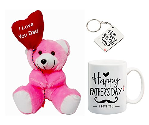 ME&You Gifts for Father, Father's Day Gifts, Father's Day Gift Set- Teddy, Mug & Keyring IZ18NJPTMK-1306