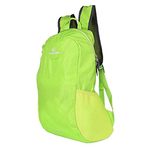 Fastar 15L unisex nylon sport all' aperto Borsa da trekking escursionismo campeggio zaino Zaino da viaggio verde scuro