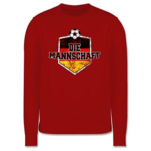 EM 2016 - Frankreich - Deutschland- Die Mannschaft Vintage - Herren Premium Pullover Rot