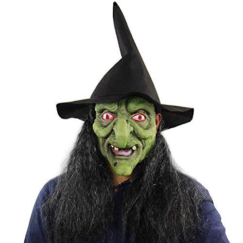 Kostüm Vogelscheuche Kürbis - Weichuang Halloween Maske Latex Kürbis Vogelscheuche Horror Maske Geister Maske Horror Kostüm Dekoration Gr. Einheitsgröße, 4