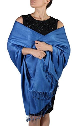 Royal Blue Pashmina Scarf Wrap S...