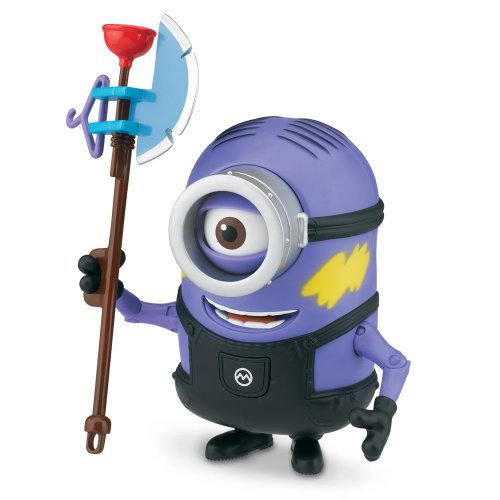 DESPICABLE ME 2 DELUXE UNDERCOVER PURPLE MINION STUART 11 CM FIGURE