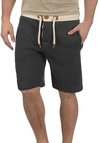 !Solid TripShorts Herren Sweatshorts Kurze Hose Jogginghose mit Fleece-Innenseite und Kordel Regular Fit, Größe:S, Farbe:Dark Grey Melange (8288) -
