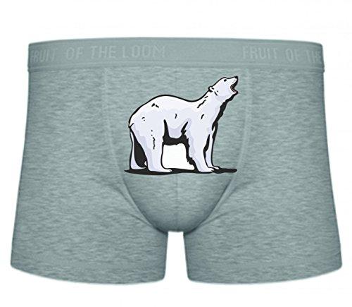 Boxershort Eisbär weißer Bär Antarktis Kälte Bärenfamilie Rudel S- XXL Sexy Unterhose Slip ()