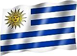 Flagge/Fahne URUGUAY Staatsflagge/Landesflagge/Hissflagge mit Ösen 150x90 cm, sehr gute Qualität