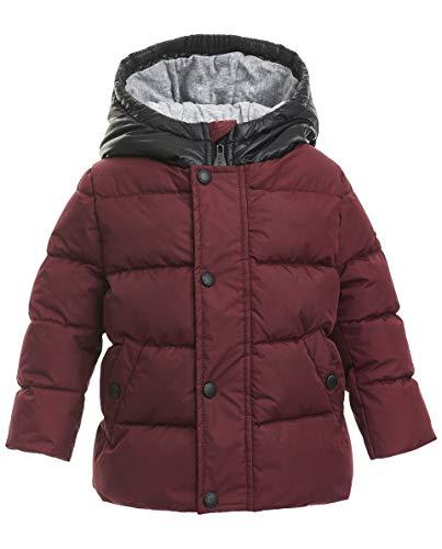 GULLIVER Baby Jacke Junge Winterjacke Outdoor Bordeaux Rot mit Kapuze 74 80 86 92 cm