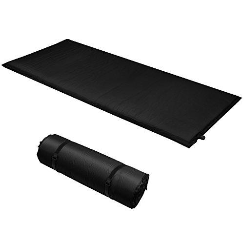 ALPIDEX Isomatte Selfinflating Matte Selbstaufblasende Outdoor Thermomatte in verschiedene Größen und Farben, Farbe:black, Maße:190 x 60 x 2.5 cm