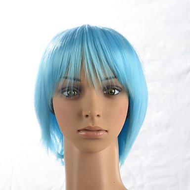 HJL-2015 femmes de la mode des cheveux raides ombre naturelle janpanese de chaleur bleu synth¨¦tique r¨¦sistant perruque 171-t2513 12 \\