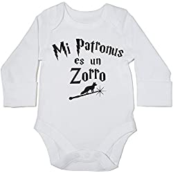 HippoWarehouse Mi Patronus es un Zorro body manga larga bodys pijama niños niñas unisex