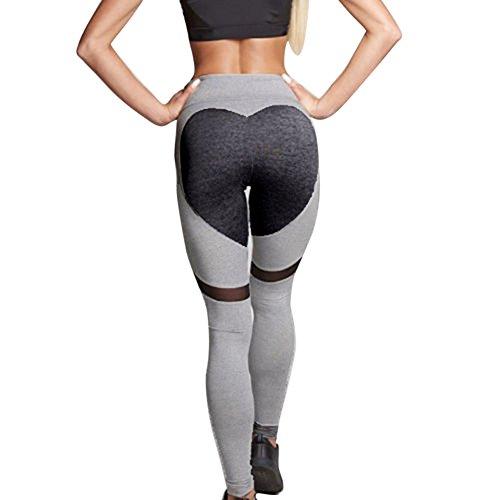 Tenxin Herzform Leggings Hose Yogahose Damen Sport-Leggings Jogginghose Hüfthose Strumpfhose Leggins Hose Strumpfhose Workout Stretch High Elastic