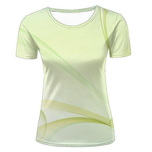 Damen Fashion T Shirt 3D Print Bubbles Simple Generous Yellow Unisex Couple Short Sleeve Tees Top L (Sleeve Bubble Print Top)