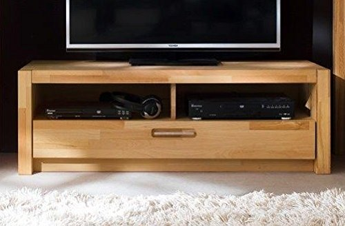Wohnprogramm Kernbuche Serie F1 TV-Lowboard TV-Schrank Fernsehschrank Kernbuche - (3423)