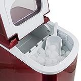Eiswürfelmaschine, Eiswürfelbereiter, Icemaker in ROT - 6