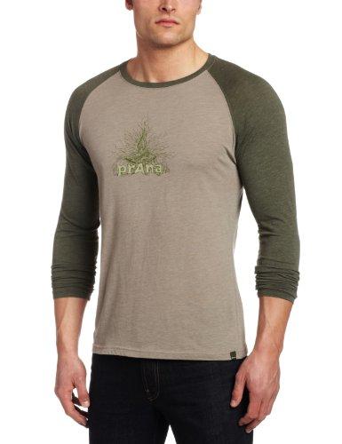 prAna–Herren 's Radiant Heathered Raglan Tee, Herren, asche (Asche-raglan-t-shirt)