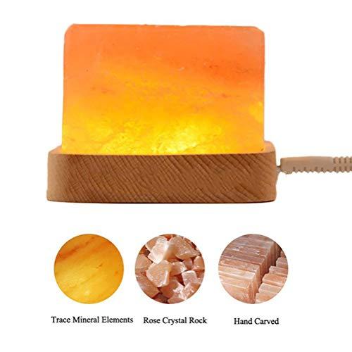 Salz Massage (CHSHY Himalaya-Salzlampe Nachtlicht mit Fernbedienung, buntes Himalaya-Salzlicht mit Holzsockel, handgeschnitzt, Luftreinigung, Geschenke, Massage)