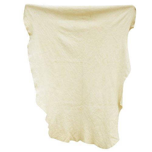 Csheng Natürliche Chamois Leder Tuch Auto Trocknen Super saugfähigen Waschlappen Handtücher schnell trocknend Reinigungstuch unregelmäßige Form 55cmx88cm (Mesh-waschlappen)