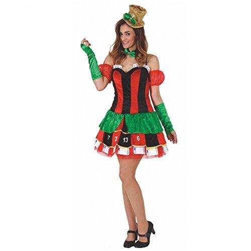 Mortino Kostüm Casino Frau Kleid Kartenspiel Fasching Las Vegas (L)